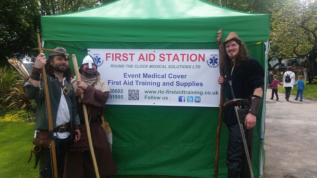 First Aid Medical Cover - RTC Medical Solutions Staffordshire