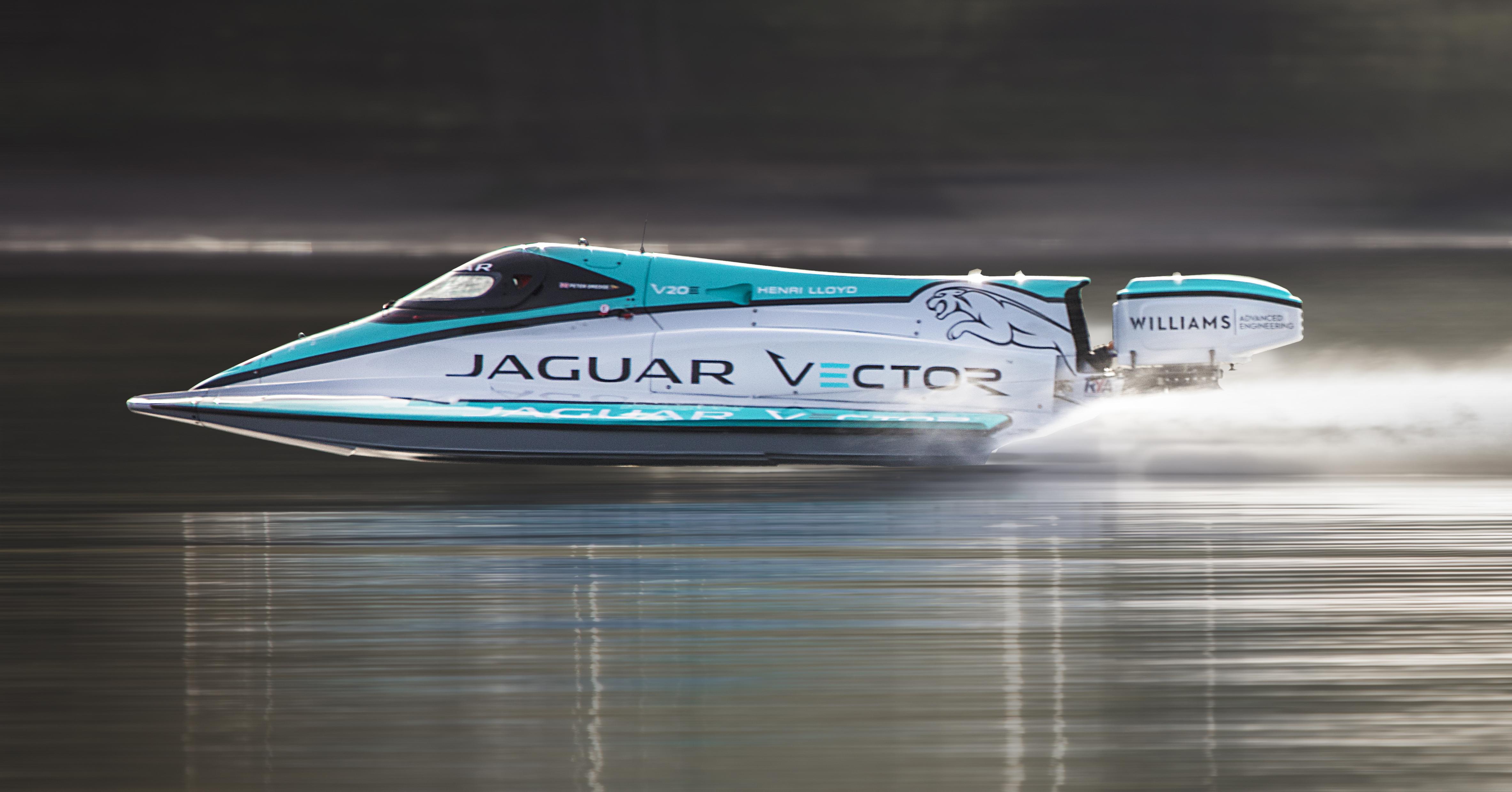 Jaguar Vector Racing Break Maritime Electric World Record